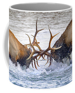 Battle Of Strength Coffee Mug by Jack Bell
