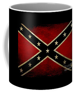 Battle Scarred Confederate Flag Coffee Mug by Randy Steele