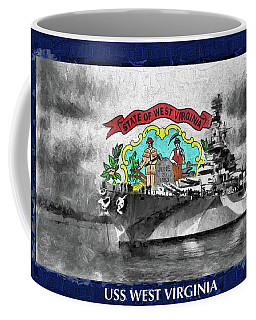 Battleship West Virginia Coffee Mug by JC Findley