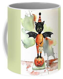 Batty Vintage Cat  Coffee Mug