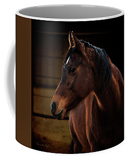Bay Arabian Mare 2 Coffee Mug by Karen Slagle
