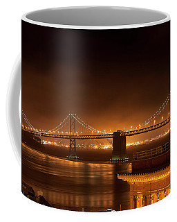 Bay Bridge At Night Coffee Mug