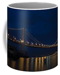 Bay Bridge At Night Coffee Mug