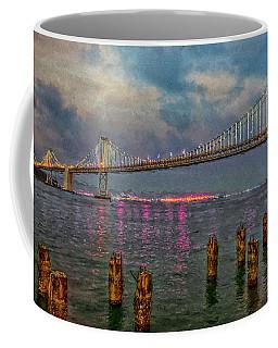 Bay Bridge At Nightfall Coffee Mug