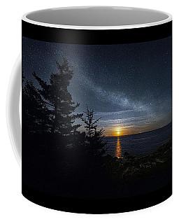 Bay Of Fundy Moonrise Panorama Coffee Mug by Marty Saccone