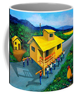 Bayanihan Coffee Mug by Cyril Maza