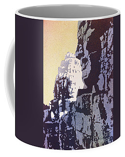 Coffee Mug featuring the painting Bayon Temple- Angkor Wat, Cambodia by Ryan Fox