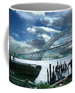 Bayonne Bridge Coffee Mug by Steve Karol