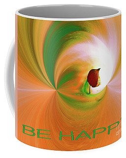 Be Happy, Green-orange With Physalis Coffee Mug