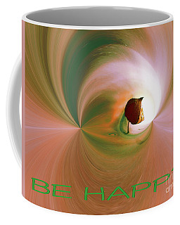 Be Happy Green-rose With Physalis Coffee Mug