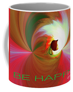 Be Happy, Red-rose With Physalis Coffee Mug