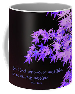 Be Kind Coffee Mug by Susan Lafleur
