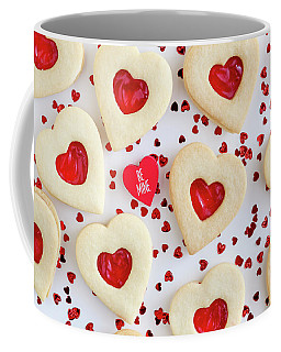 Be Mine Heart Cookies Coffee Mug by Teri Virbickis