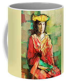 Coffee Mug featuring the painting Be You by Carrie Joy Byrnes