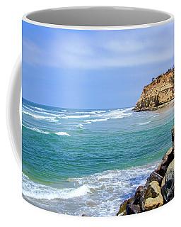 Beach At Del Mar, California Coffee Mug