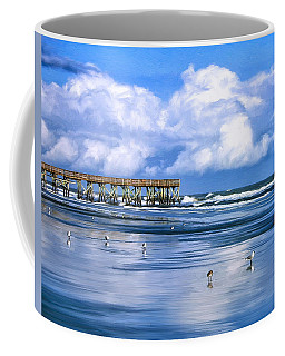 Beach At Isle Of Palms Coffee Mug