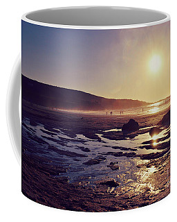 Coffee Mug featuring the photograph Beach At Sunset by Lyn Randle