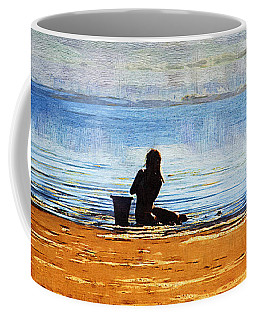 Beach Baby Blue Coffee Mug by Holly Ethan