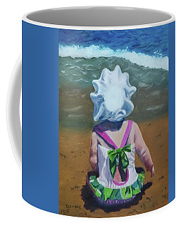 Beach Baby In Bonnet Coffee Mug