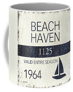 Beach Badge Beach Haven Coffee Mug
