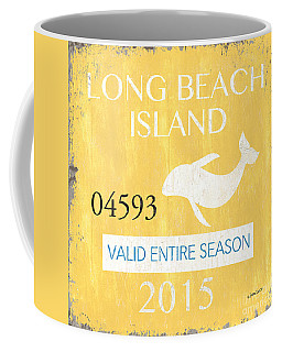 Beach Badge Long Beach Island Coffee Mug