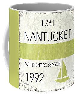 Beach Badge Nantucket Coffee Mug