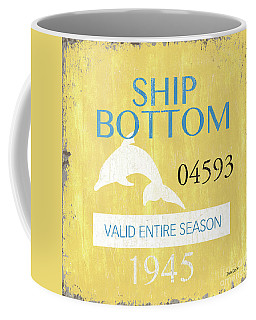 Beach Badge Ship Bottom Coffee Mug