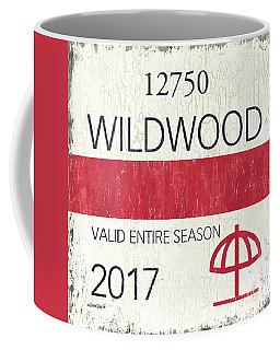 Beach Badge Wildwood 2 Coffee Mug