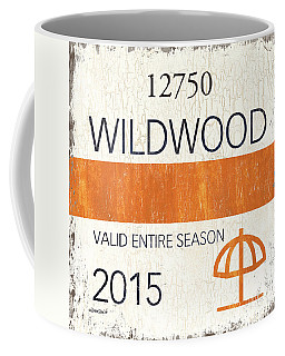 Beach Badge Wildwood Coffee Mug