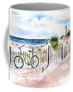 Beach Bike At Seaside Coffee Mug