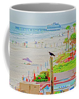 Beach Bird On A Pole Coffee Mug