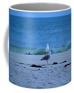 Coffee Mug featuring the photograph Beach Birds by  Newwwman