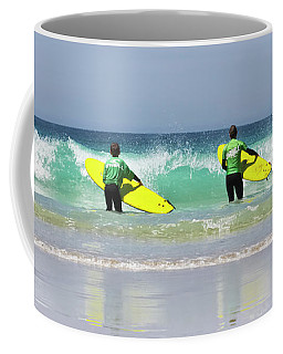 Coffee Mug featuring the photograph Beach Boys Go Surfing by Terri Waters