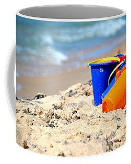 Coffee Mug featuring the photograph Beach Buckets by SimplyCMB