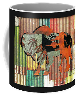 Coffee Mug featuring the photograph Beach Buffalo by Larry Campbell