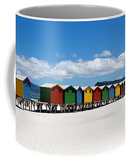 Beach Cabins  Coffee Mug