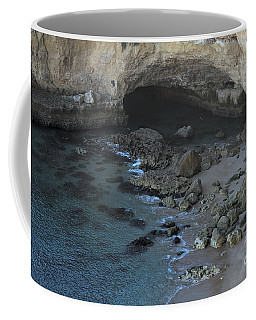 Beach Cave From The Cliffs In Malhada Do Baraco Coffee Mug