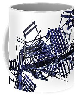 Coffee Mug featuring the photograph Beach Chairs by Edgar Laureano