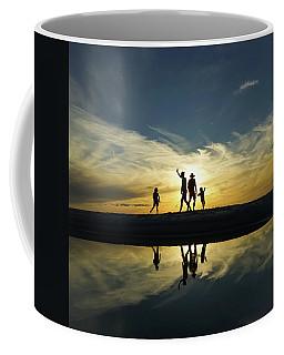 Beach Dancing At Sunset Coffee Mug