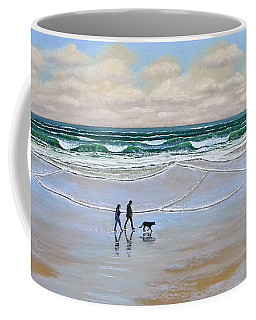 Beach Dog Walk Coffee Mug