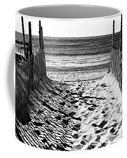 Beach Entry Black And White Coffee Mug