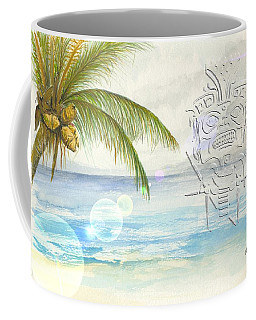 Coffee Mug featuring the digital art Beach Etching by Darren Cannell