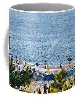 Beach Fun At Cape Henlopen Coffee Mug