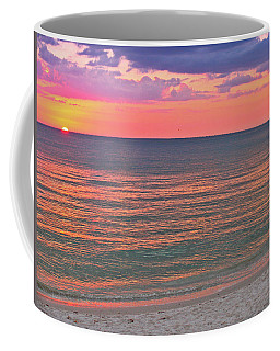 Beach Girl And Sunset Coffee Mug by Scott Mahon