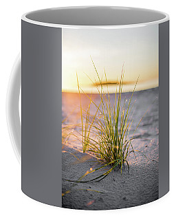 Coffee Mug featuring the photograph Beach Grass by Brad Wenskoski