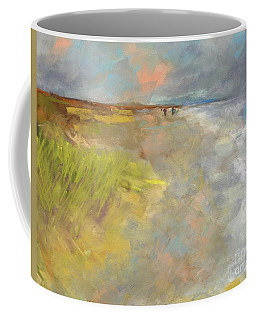 Coffee Mug featuring the painting Beach Grasses by Frances Marino