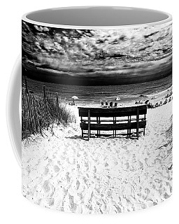 Coffee Mug featuring the photograph Beach Haven Beach Day by John Rizzuto