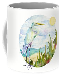 Beach Heron Coffee Mug