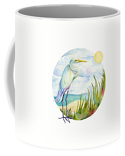 Beach Heron Coffee Mug