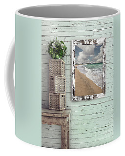 Coffee Mug featuring the photograph Beach House By Kaye Menner by Kaye Menner